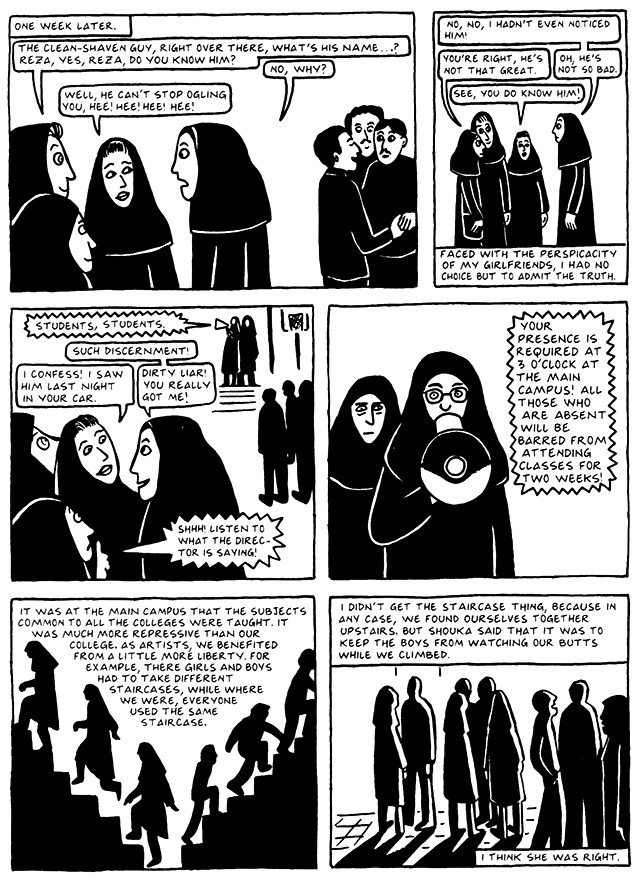 Read Chapter 15 - The Convocation, page 141, from Marjane Satrapi's Persepolis 2 - The Story of a Return