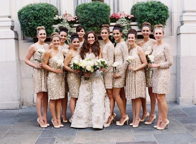 {Wedding Trends} : Sequin Bridesmaid Dresses