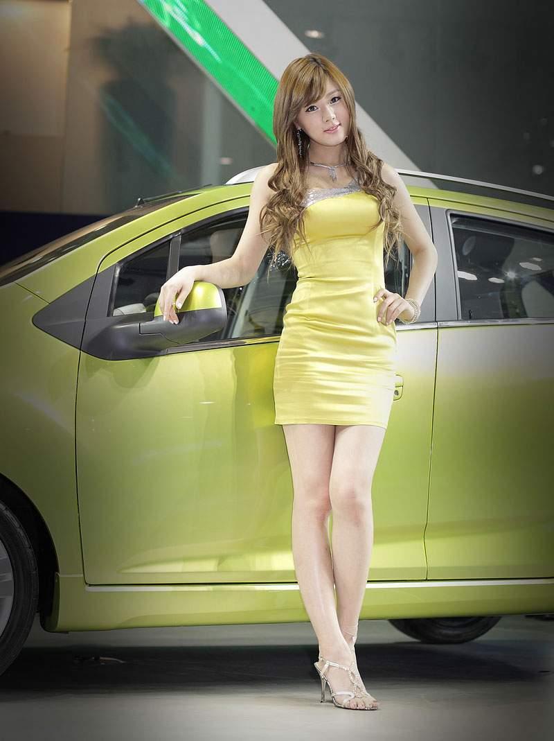 Asian car show models