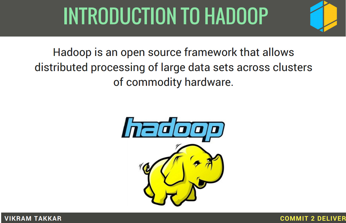Commit 2 deliver 1 introduction to hadoop hadoop tutorial the answer to this is hadoop baditri Image collections