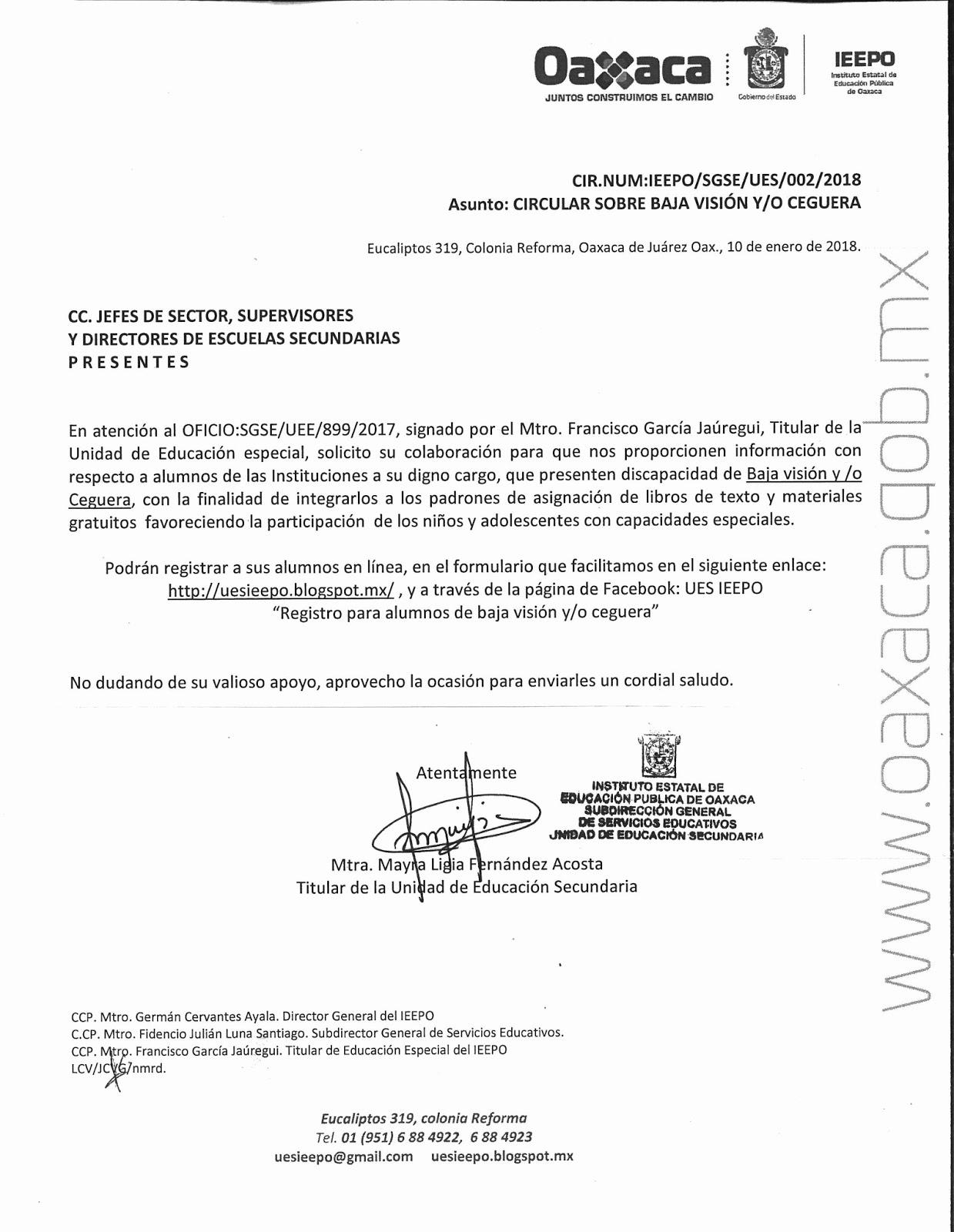 Unidad de Educación Secundaria - IEEPO: REGISTRO DE ALUMNOS CON BAJA ...