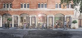 Opera North Capital Redevelopment 2018 (artist's impression of restaurant on New Briggate)