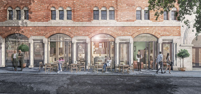 Opera North Capital Redevelopment 2018 (artist's impression of restaurant on New Briggate)