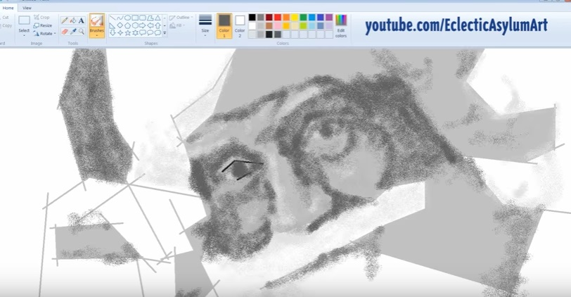 tviscool unbelievably realistic microsoft paint art santa claus