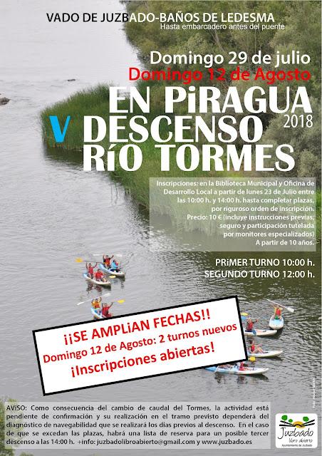 Juzbado, tormes, Piraguas