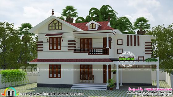 1841 square feet modern Kerala style home renovation