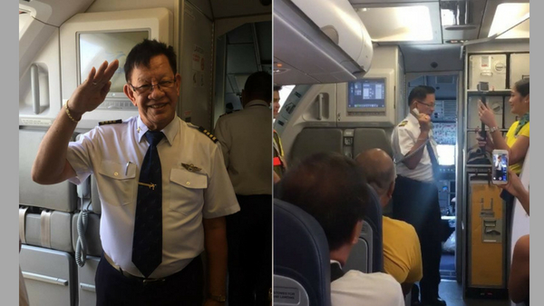 Cebu Pacific pilot's tearful message on his last flight before retirement