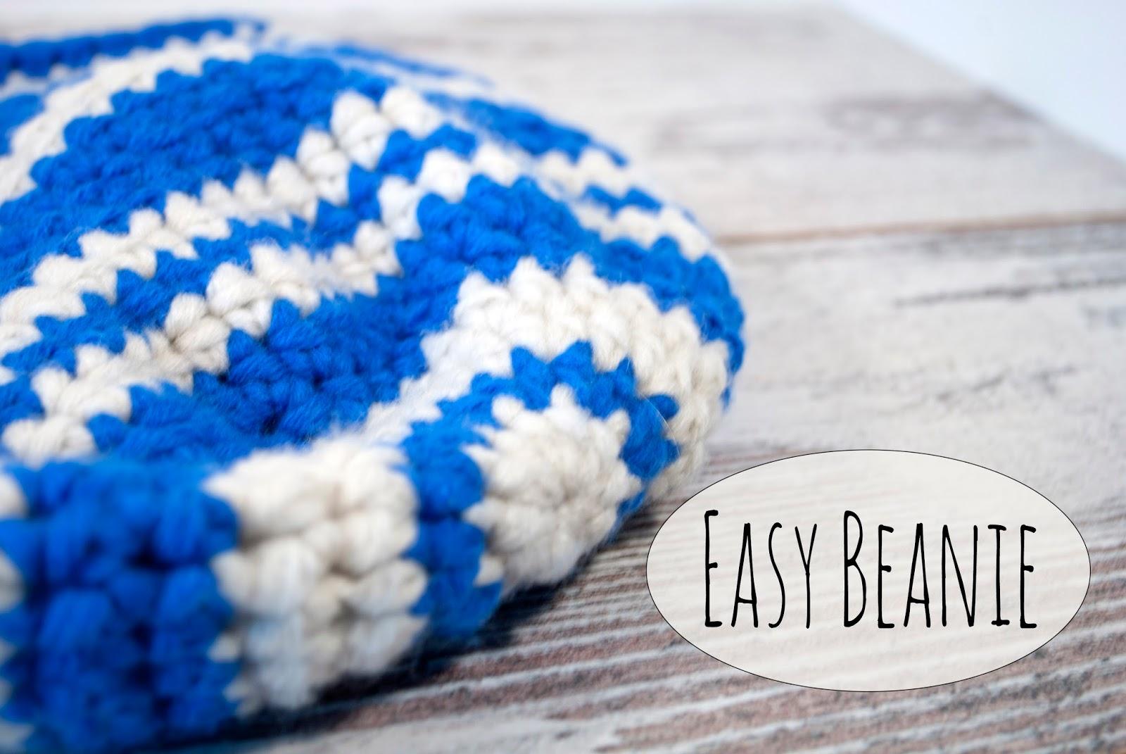 Easy Beanie - kostenloses Häkelmuster! * The Crafting Café