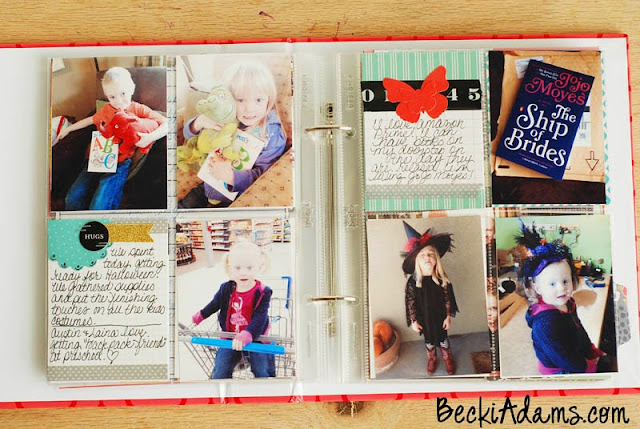 A Week in the Life Album by Becki Adams @jbckadams #scrapbooking #memorykeeping #scrapbook #Weekinthelife
