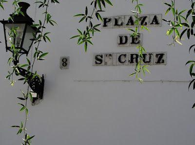 Azulejo en Plaza Santa Cruz