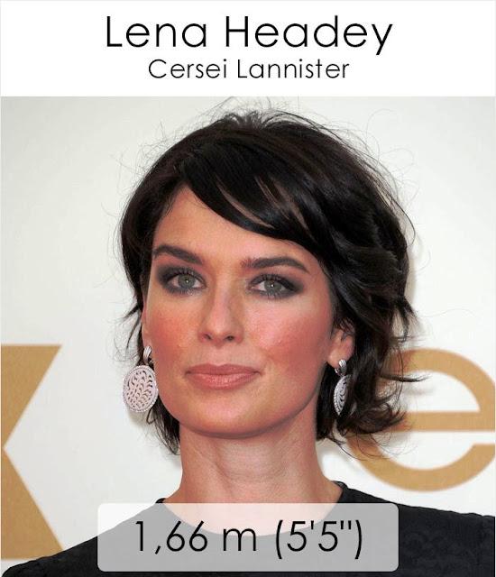Lena Headey (Cersei Lannister) 1.66 m