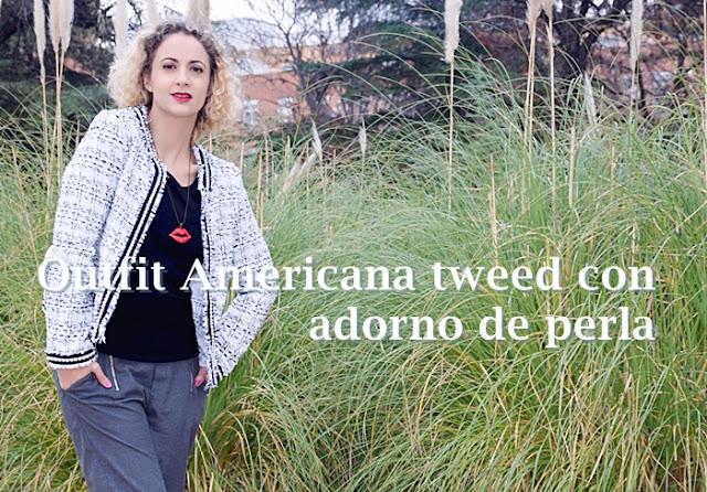 Outfit-Americana-tweed-adorno-perla-1