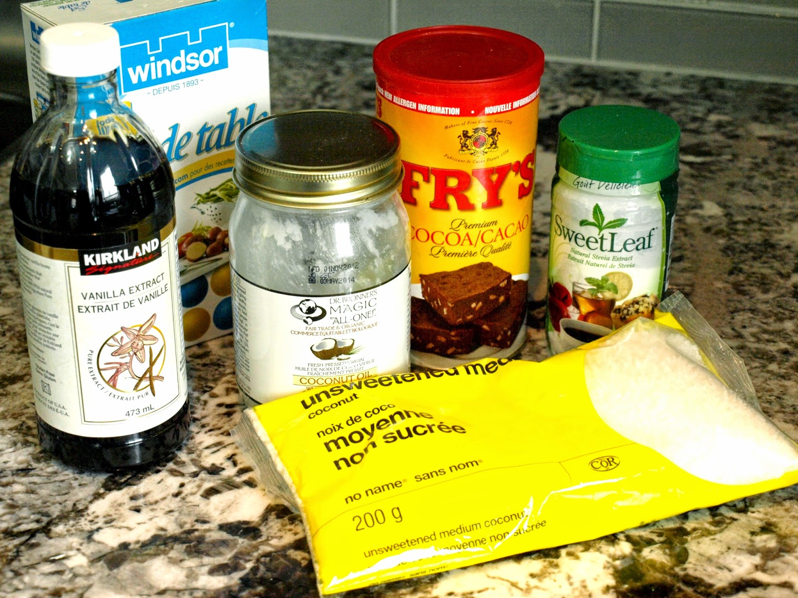 ingredients for dairy free gluten free macaroons