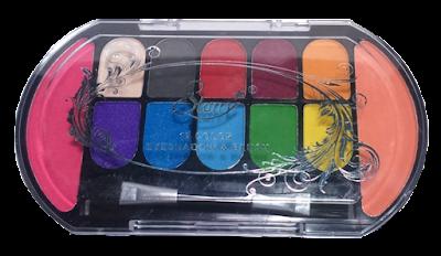 Sombra + Blush. Paleta 12 colores
