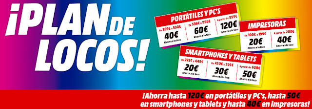 Top 5 ofertas folleto Plan de Locos II de Media Markt