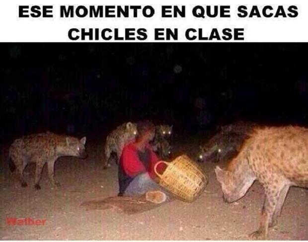 Chicles en clase