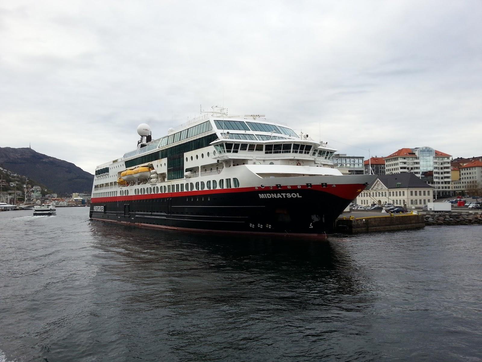 4 Hurtigruten Ships In Bergen