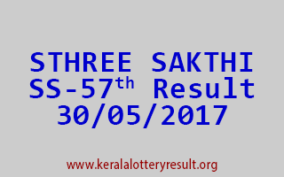 STHREE SAKTHI Lottery SS 57 Results 30-5-2017