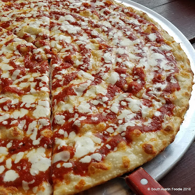Lunar Pizza cheese pie
