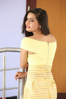 Shipra gaur in V Neck short Yellow Dress ~  039.JPG