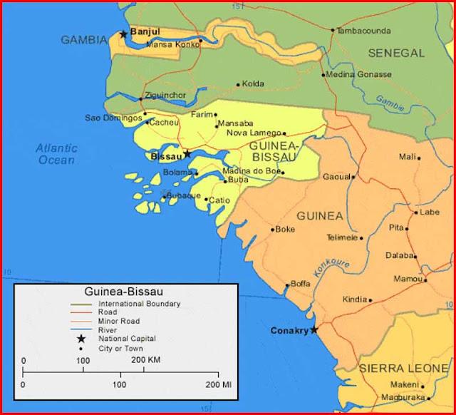Gambar Peta Guinea-Bissau