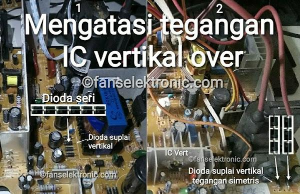 Mengatasi Tegangan IC Vertikal Over