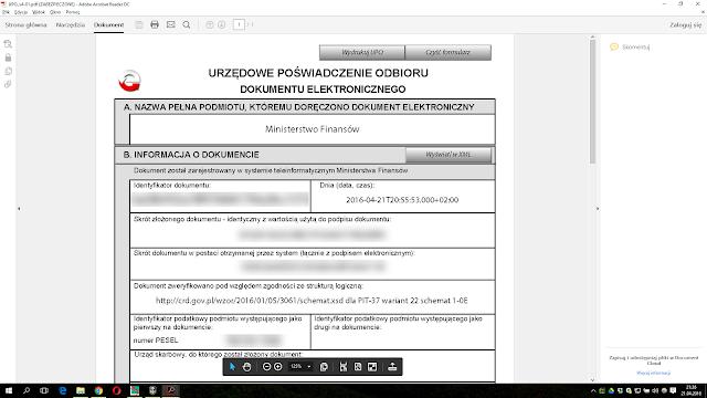 Urzędowe poświadczenie odbioru dokumentu elektronicznego (UPO)