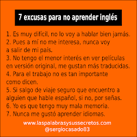 7 excusas para no aprender inglés, aprender inglés, inglés, curso de inglés, dudas del inglés