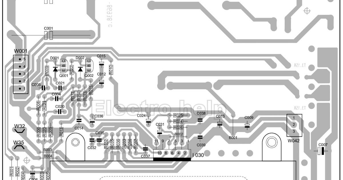 Sub Woofer circuit diagram 35 Watts TDA 7265