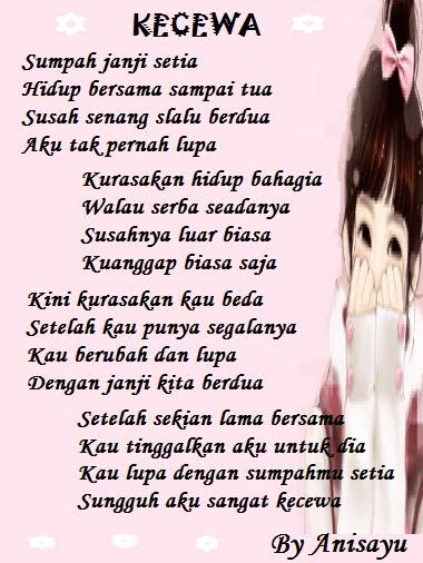 PUISI CINTA BY ANISAYU: Kecewa