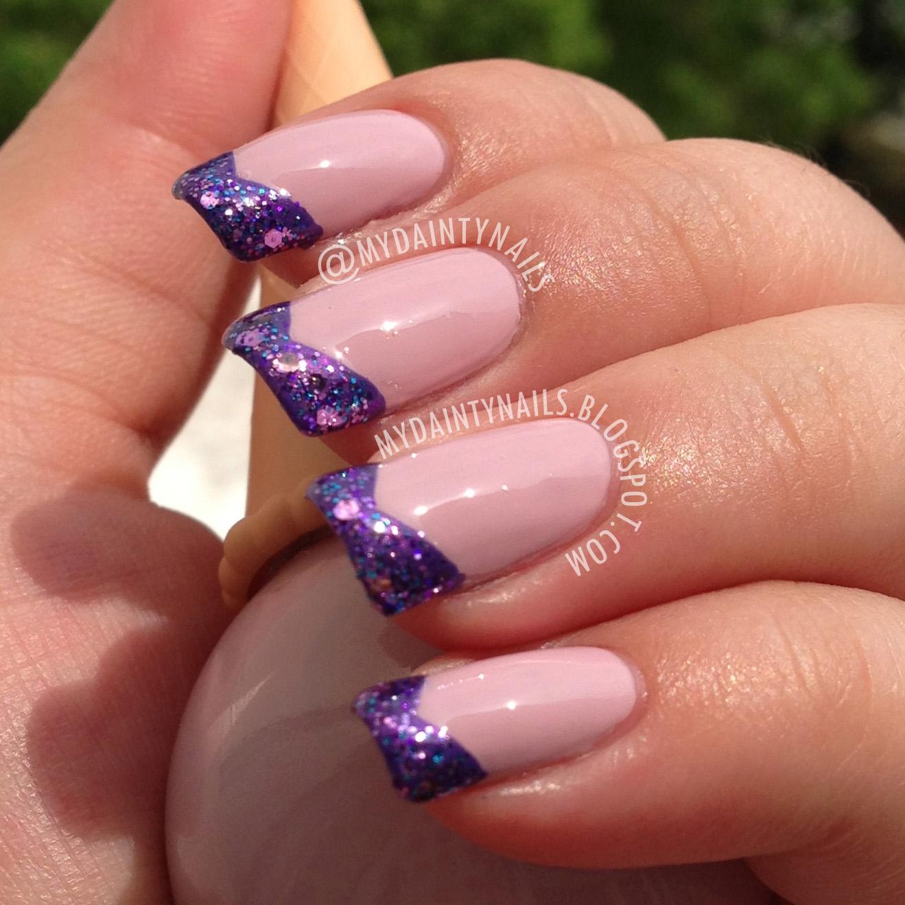 My Dainty Nails: Pastel Purple Glitter