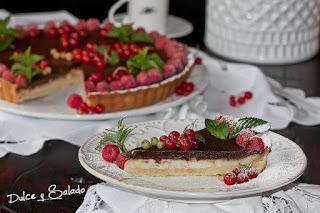 Tarta de Crema de Queso y Chocolate