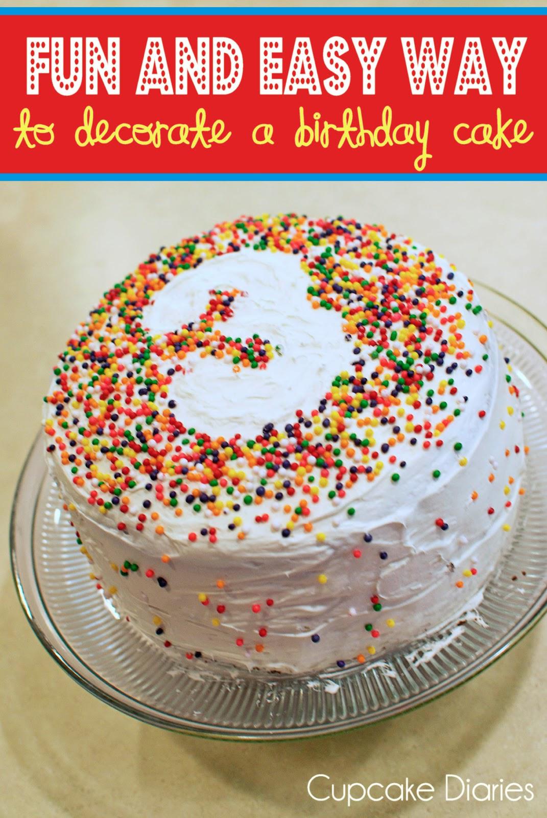 Easy Birthday Cake Images Milofi Com For