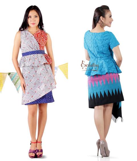 baju model peplum batik