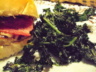 Eclectic Red Barn: Southwest Turkey Burger & Kale Chips