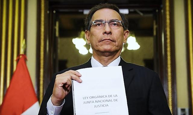 Vizcarra anuncia creación de la Ley Orgánica de la Junta Nacional de Justicia