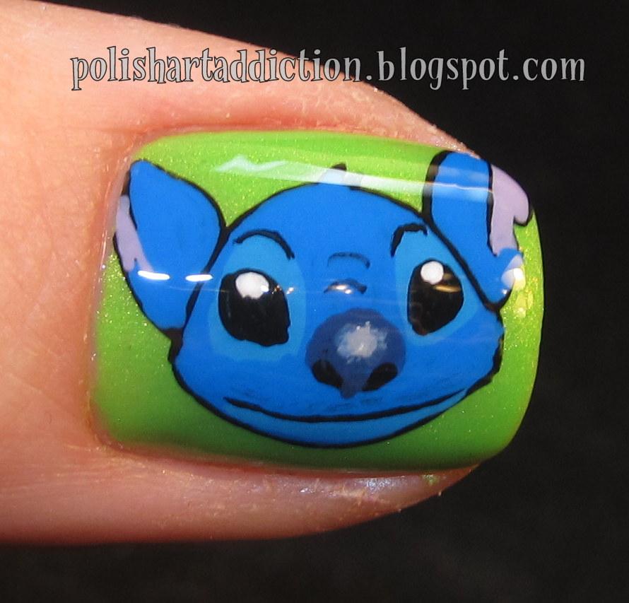 Nail Art Stitch: Disney Lilo & Stitch Nail Art