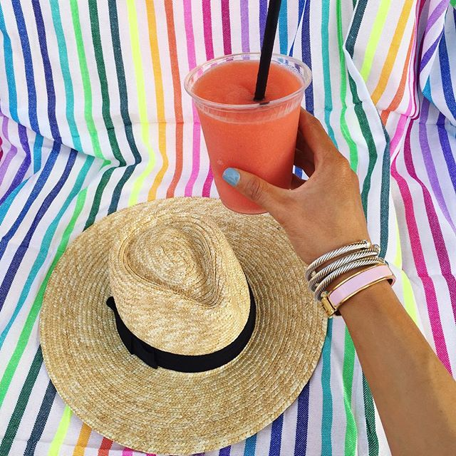 brixxton hat, david yurman bracelet stack, hermes clic clac pink, las bayadas beach blanket, the sweets thing blog, emily gemma