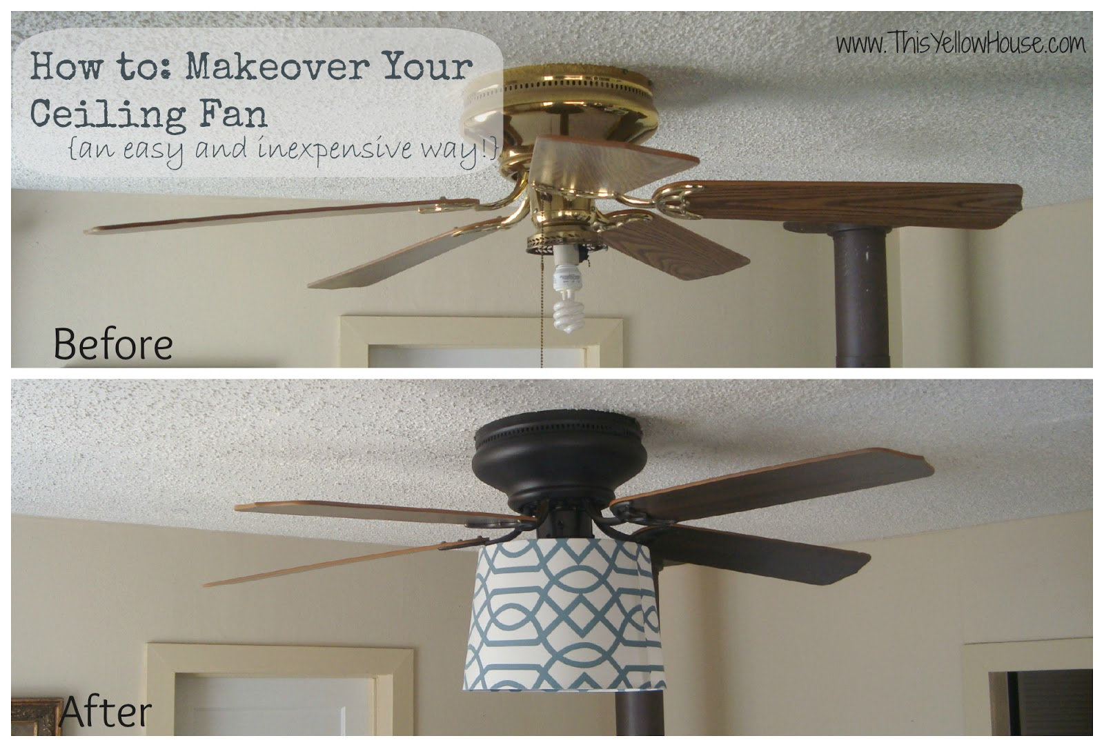 DIY Ceiling Fan Makeover