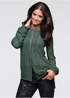 Bluză super feminină, frumos ornată cu nituri
