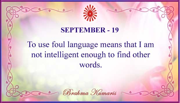 Thought For The Day September 19