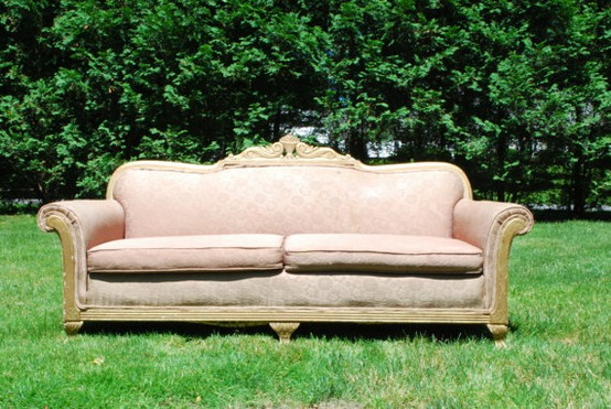 Sassy Sister Vintage The Beauty Of Burlap A Sofa Update