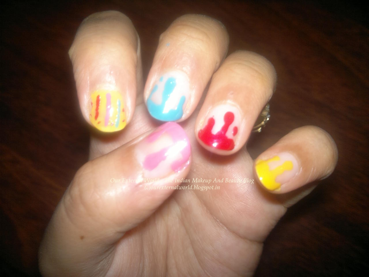 Holi Nail Art Splash Of Colors On Your Nails Tutorial