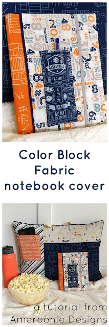 Sew a color block cover for your composition notebook with this tutorial