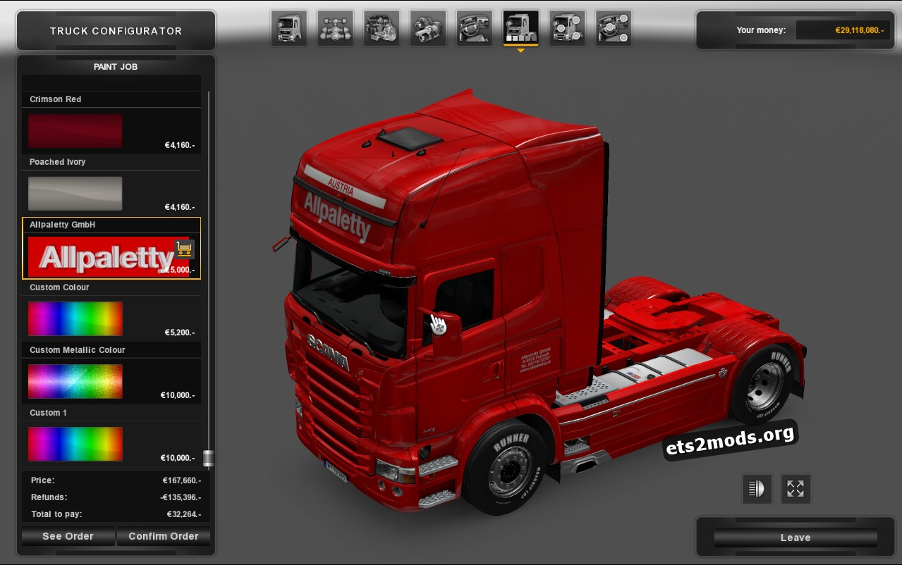 Allpaletty Skin for Scania RJL