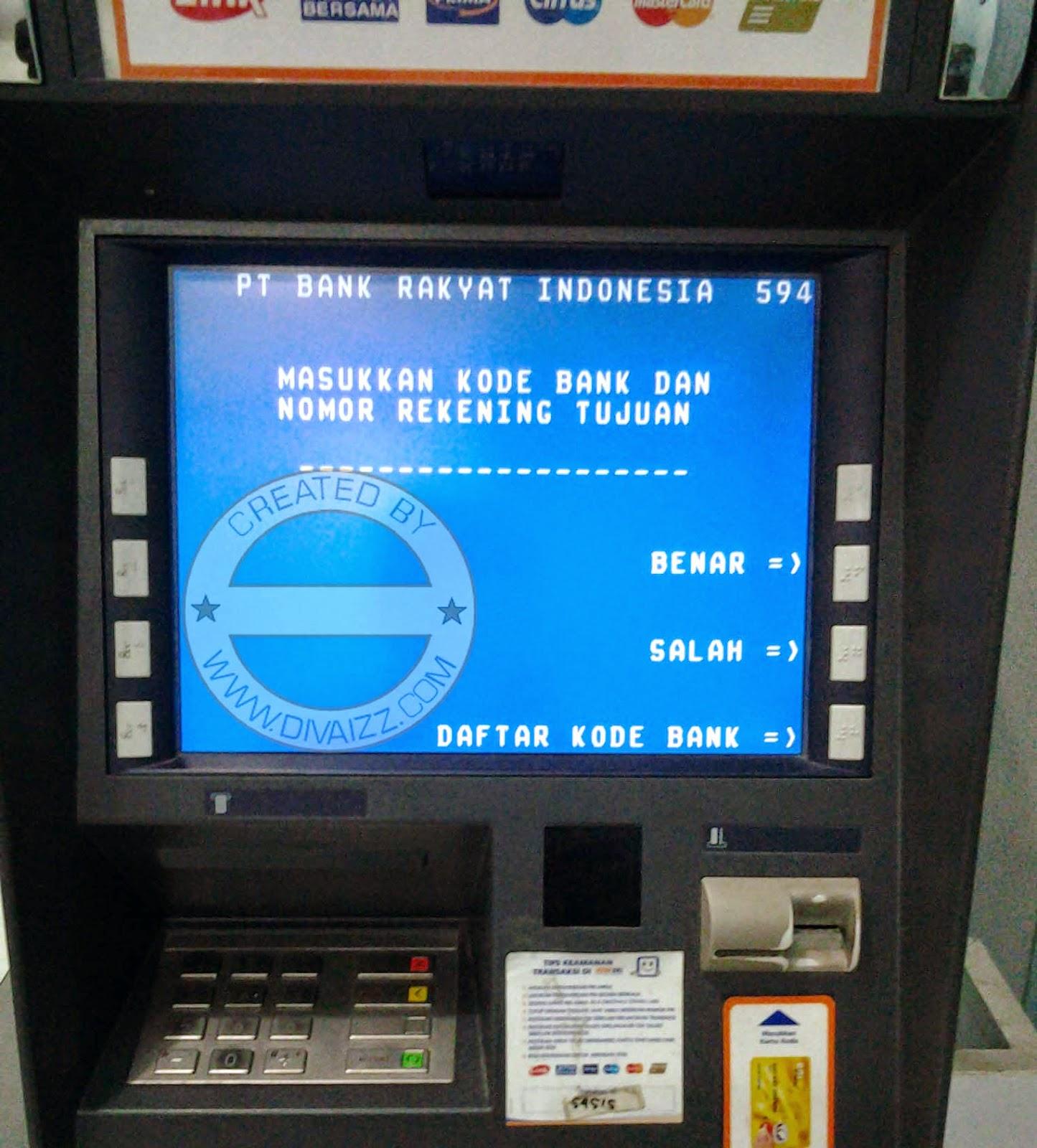 Kode Bank BRI,BNI,BCA,MANDIRI, Seluruh Indonesia - www.divaizz.com