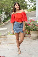 Rhea Chakraborty in Red Crop Top and Denim Shorts Spicy Pics ~  Exclusive 250.JPG