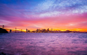 Wallpaper: San Francisco Treasure Island Sunset