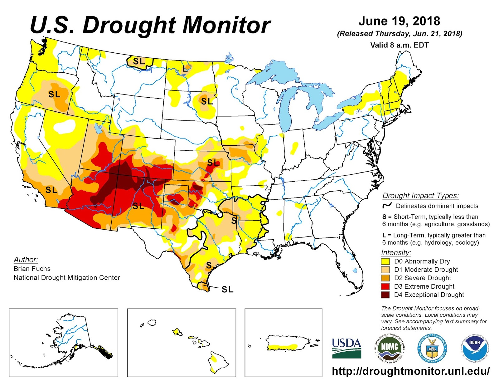 rains is that while the east coast is seeing a lot of rain areas out west are seeing a drought see the areas in red and dark red on the map below