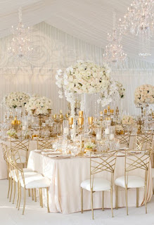 matrimonio fai da te con decorazioni con foglia d'oro
